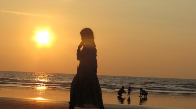 Puesta de sol en Kuddle Beach